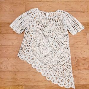 Chico's Crochet Top Size 2
